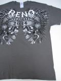 T-710 リノ ラリー2014記念  半袖Tシャツ RENO NEVADA グレー M
