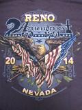 T-713 リノ ラリー2014記念  半袖Tシャツ RENO NEVADA ブラウン L
