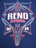 T-714 リノ ラリー2014記念  半袖Tシャツ RENO NEVADA 紺 L