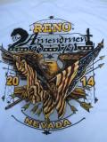 T-715 リノ ラリー2014記念  半袖Tシャツ RENO NEVADA 白 L