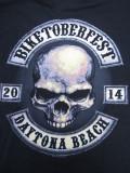 T-726 デイトナ2014記念  BIKETOBERFEST 半袖Tシャツ 黒  L