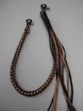 WOR-312 ウォレットロープ 8ツ編み ブラウン/ナチュラル