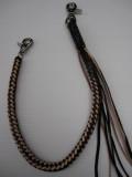 WOR-314 ウォレットロープ 8ツ編み  ナチュラル/黒