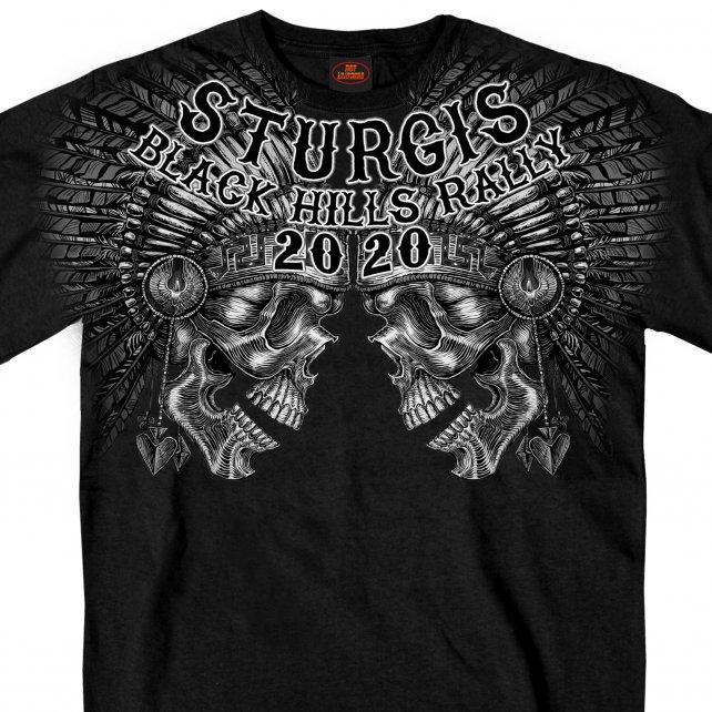 HDT-1874-ST スタージス2020記念 オフィシャル 半袖Tシャツ スカル ヘッドバッツ