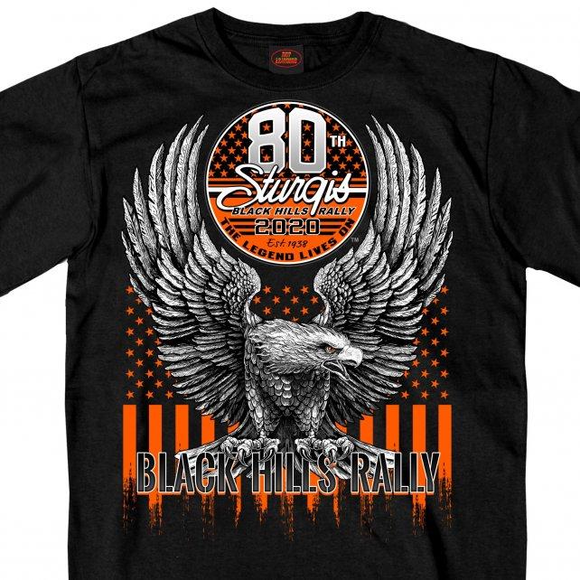 HDT-1899-ST スタージス2020記念 オフィシャル 半袖Tシャツ NEWイーグル