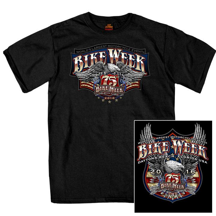 T-782 デイトナ2016年 記念 BIKE WEEK オフィシャル半袖Tシャツ デイトナイーグル