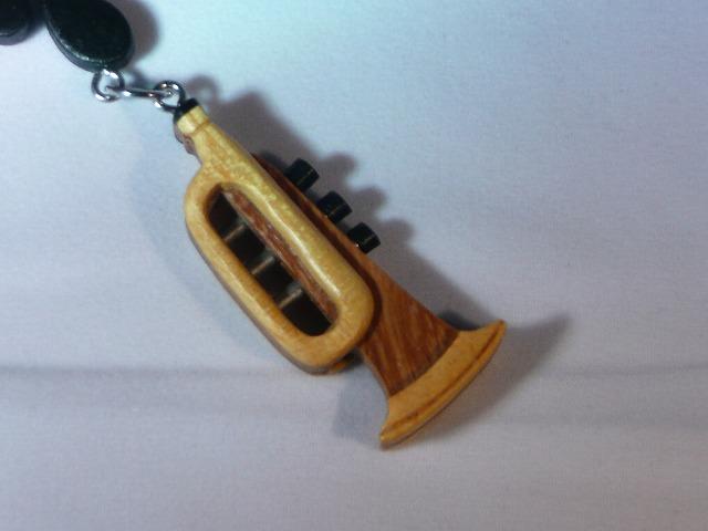 木製 トランペット 楽器ストラップ Bシリーズ