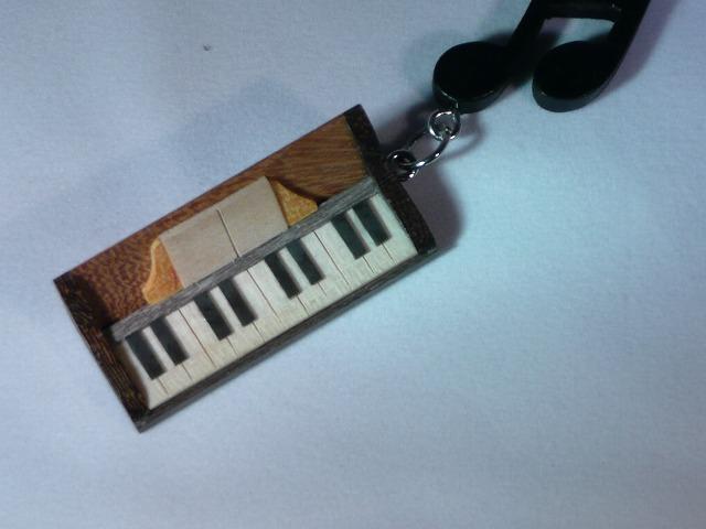 木製 ピアノ 楽器ストラップ Bシリーズ