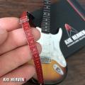 ミニチュアギター用ストラップ Fender レッドミニモデルギターストラップ