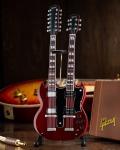 ミニチュア ギター ギブソン  Gibson SG EDS-1275 Doubleneck Cherry     AXE HEAVEN