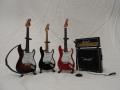 ミニチュア楽器 フェンダーストラト ギター4点セット (フェンダー公認ギター)
