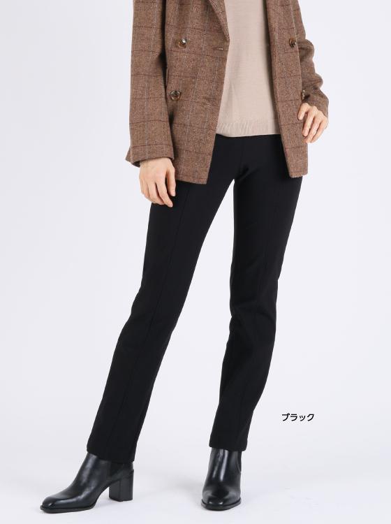【P.WILL FREE】裏起毛ハイストレッチスリムストレートパンツ【日本製】