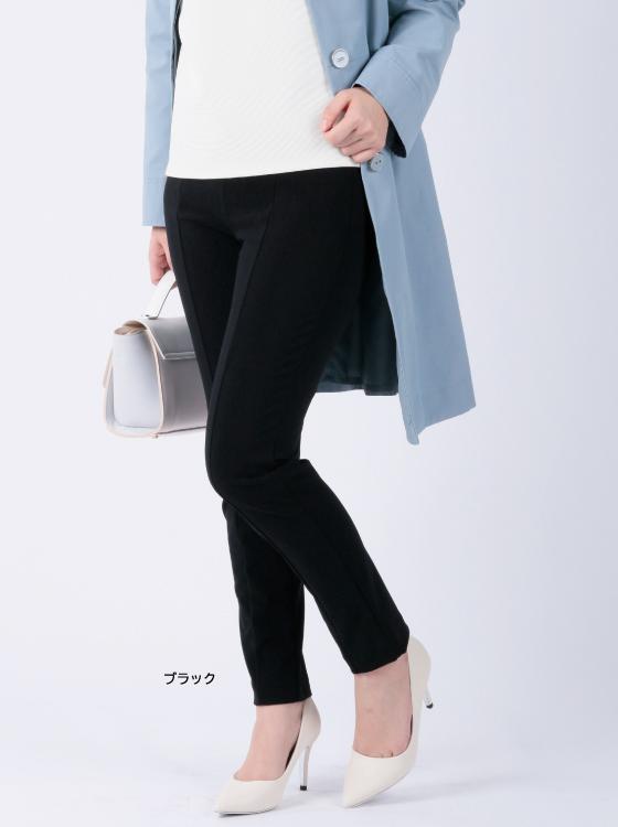 【P2<ピーツー>】ナイロンハイストレッチスリムパンツ【日本製】