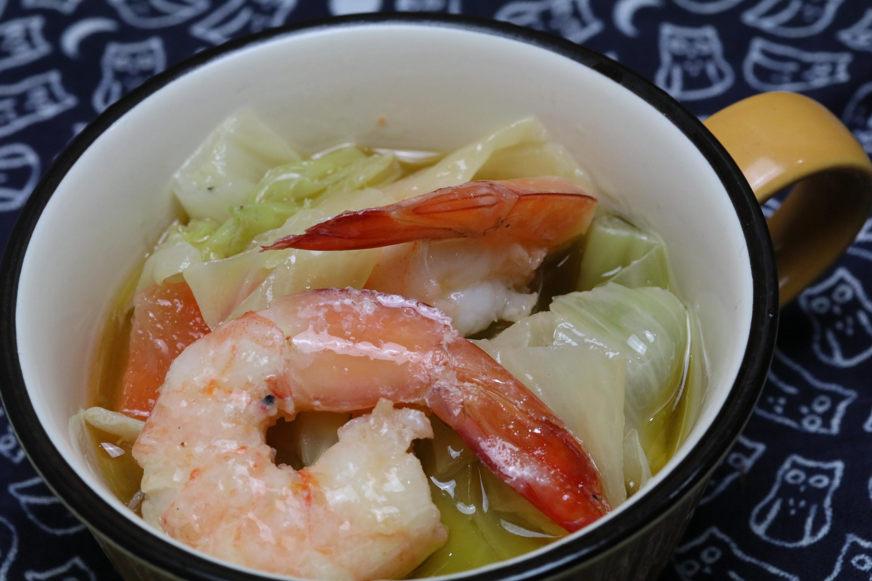 【油とにんにくの旨味を】天然海老と野菜の和のアヒージョ風