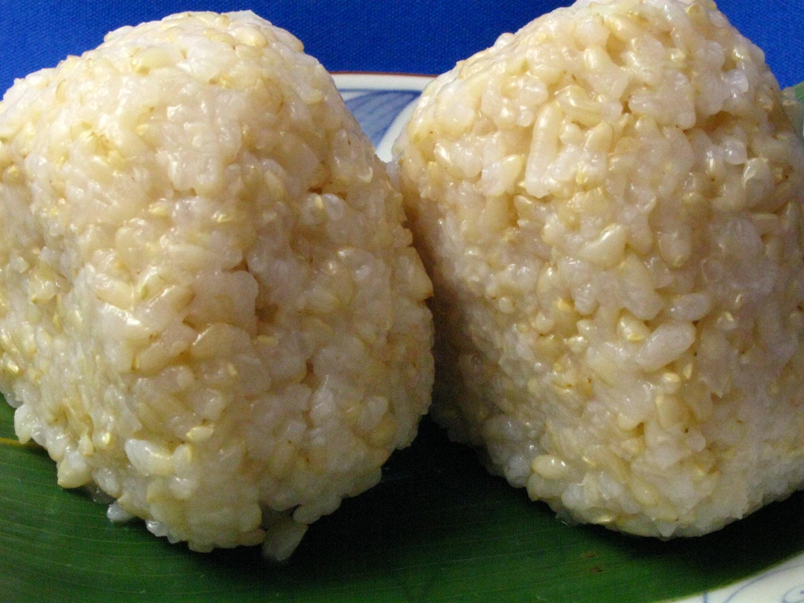 【発芽玄米】無農薬・無化学肥料米のおにぎり