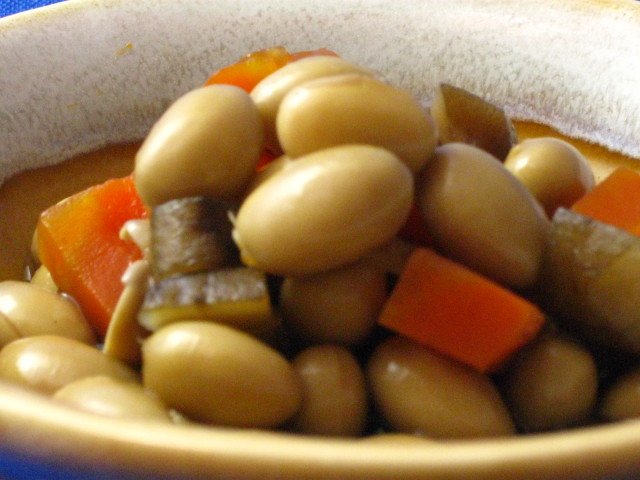 【煮豆の定番】有機大豆と牛蒡、椎茸の煮物