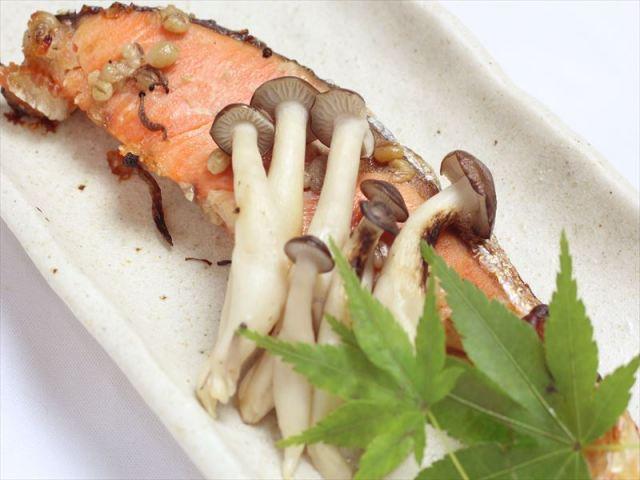 天然鮭の塩麹焼き