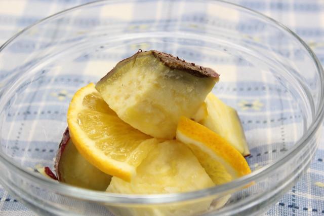 さつまいもレモン煮