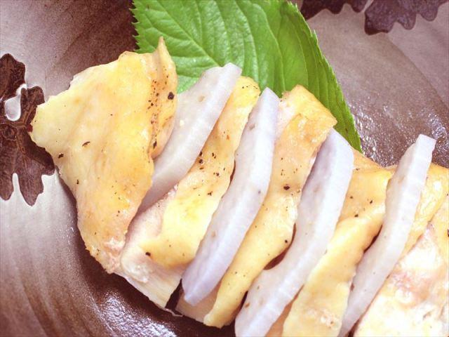 鶏もも肉と蓮根の無農薬柚子蒸し