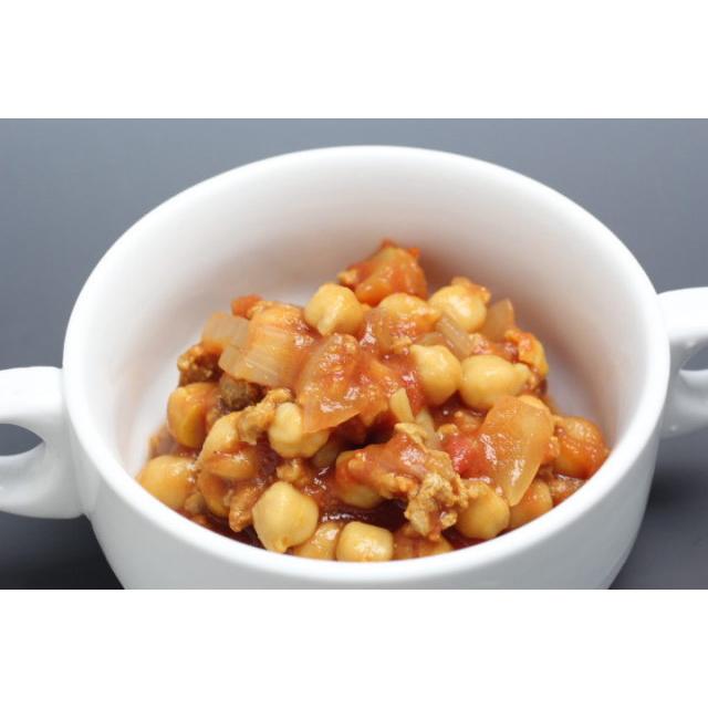 【ベジタリアン】有機ひよこ豆と大豆ミートのチリコンカン風