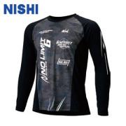 NLG62-007 ニシ NISHI モーションラインウインドカットロングスリーブシャツ 陸上 T&F 限定