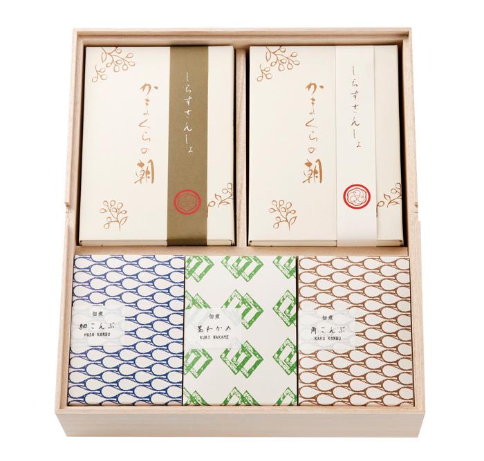 かまくらの朝・佃煮詰め合わせ 桐箱入 ■品番 58001110