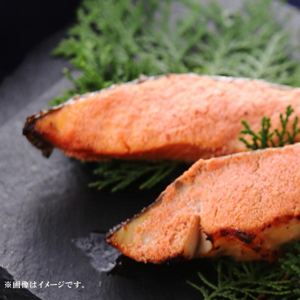 焼銀鮭の明太子漬