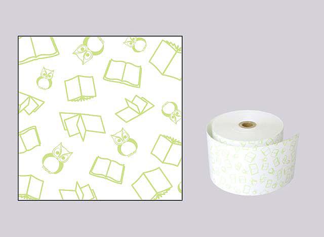 ファンシーレジ用紙 本 緑 (58mm) 20巻入