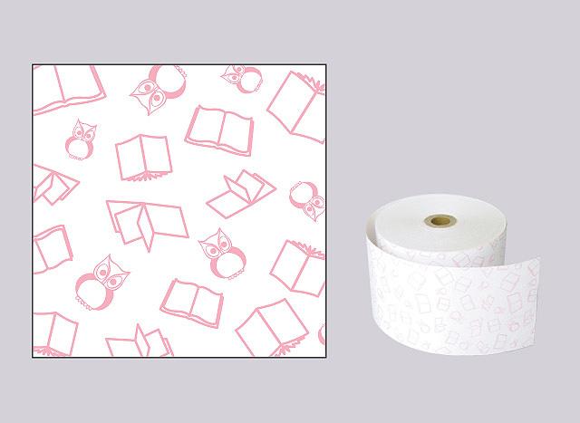 ファンシーレジ用紙 本 ピンク (58mm) 8巻入