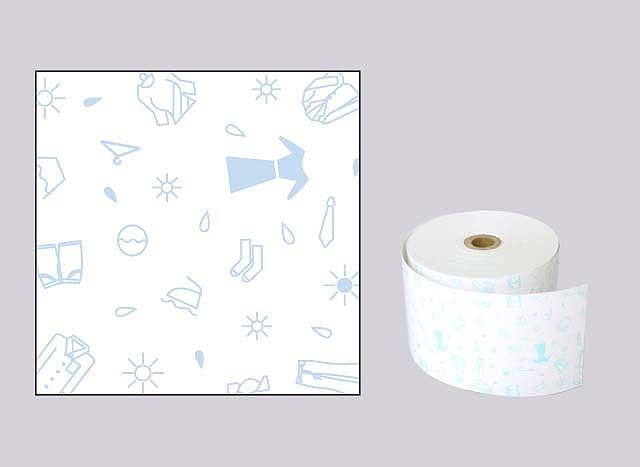 ファンシーレジ用紙 クリーニング 青 (58mm) 8巻入