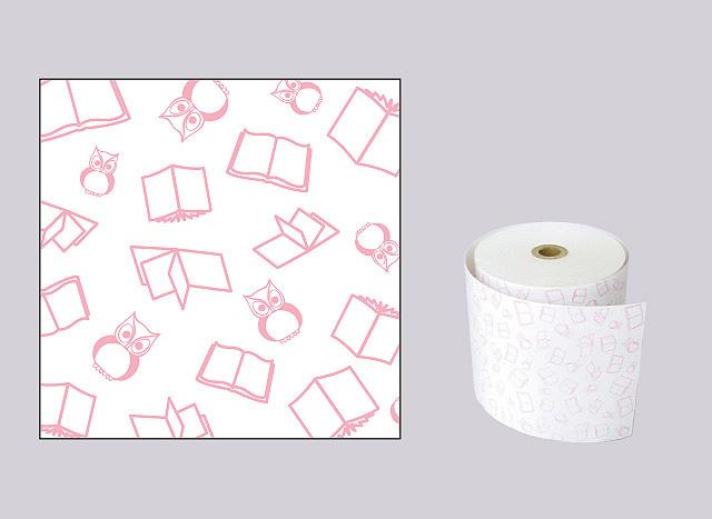 【生産終了】ファンシーレジ用紙 本 ピンク (80mm) 8巻入