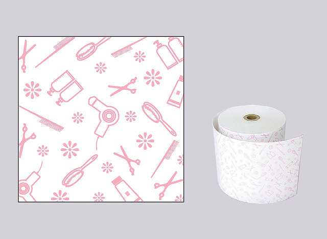 【生産終了】ファンシーレジ用紙 はさみ ピンク (80mm) 8巻入