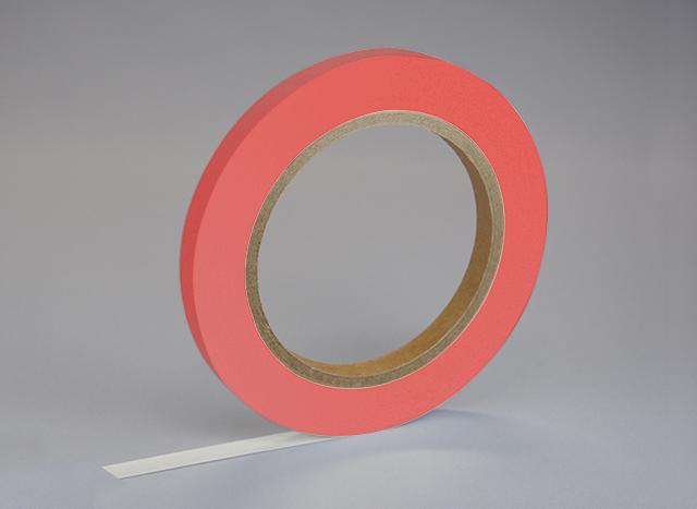紙自着テープ 赤 (9mm)