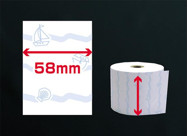 ファンシーレジ用紙 夏柄 (58mm) 3巻入