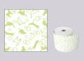 【生産終了】ファンシーレジ用紙 ねこ 緑 (80mm) 3巻入