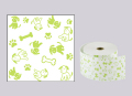ファンシーレジ用紙 犬 緑 (58mm) 3巻入