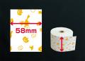 ファンシーレジ用紙 ハロウィン柄 (58mm) 3巻入