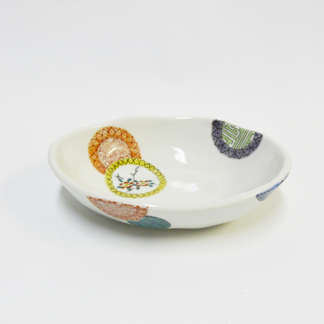 色絵丸紋鉢