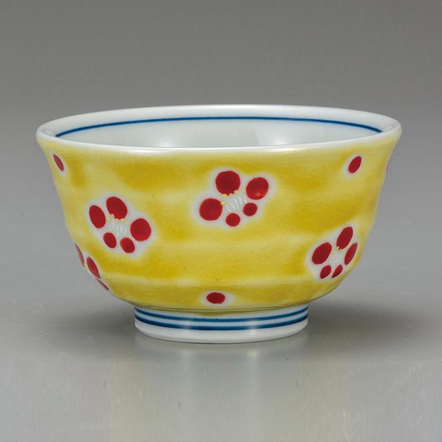 小さい飯碗・黄色はなもん