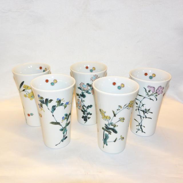 草花 フリーカップ(えぞ菊/なでしこ/水仙//菜の花/忘れな草)
