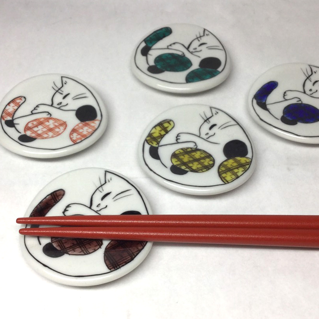 まんまる猫箸置