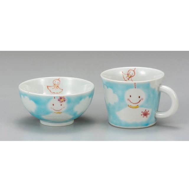 色絵遊 茶碗&マグカップ・てるてる坊主