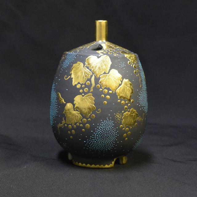 仲田錦玉 なす型葡萄青粒香炉