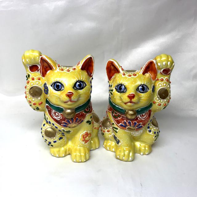 4号招き猫 黄盛