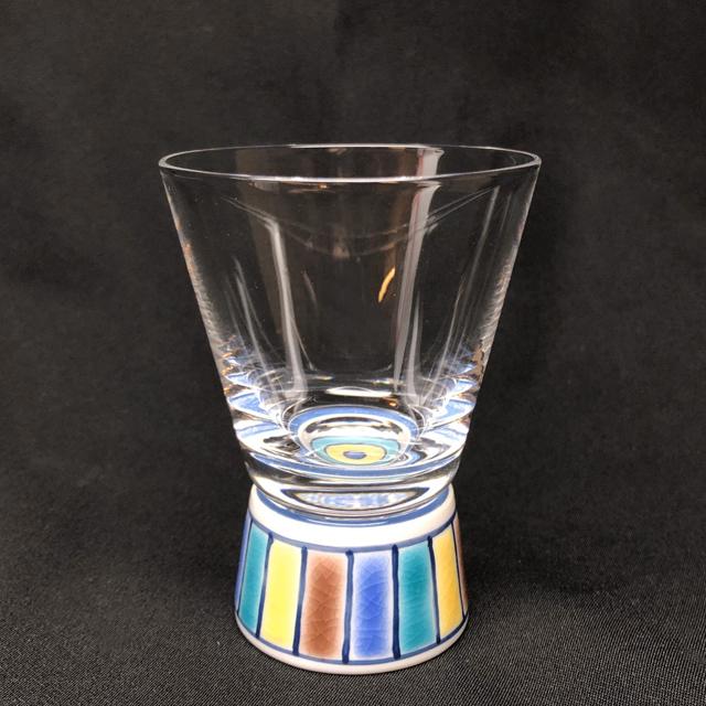 色絵十草(ブルー) ショットグラス 九谷和グラス