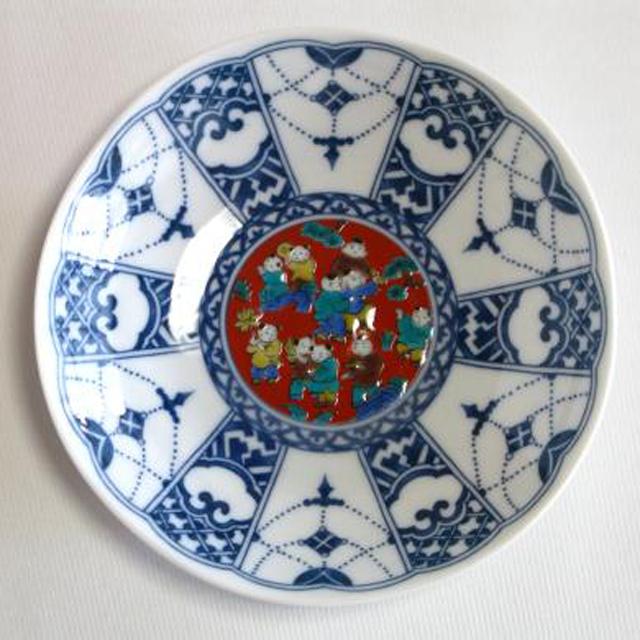 染付瓔珞紋時代絵 (木米)
