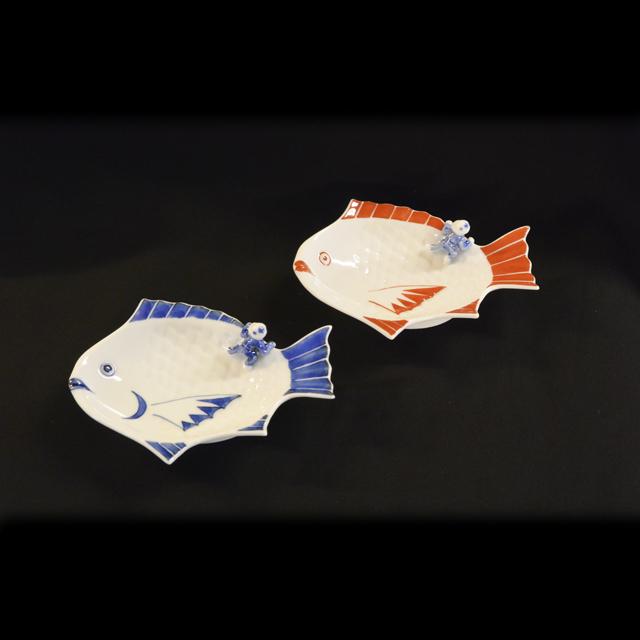 双鳩窯 鳥獣戯画3号角皿(蹴球/排球/卓球/金槌投/打球)