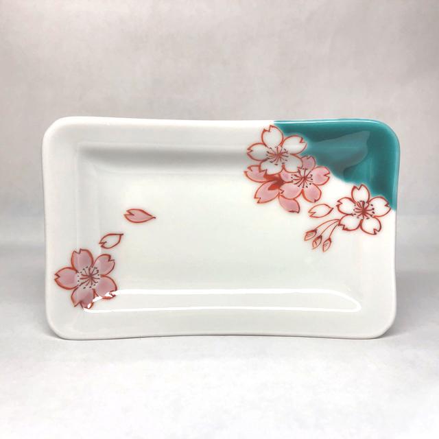 【鏑木オリジナル】桜 角小皿