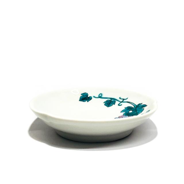 色絵ぶどう小皿