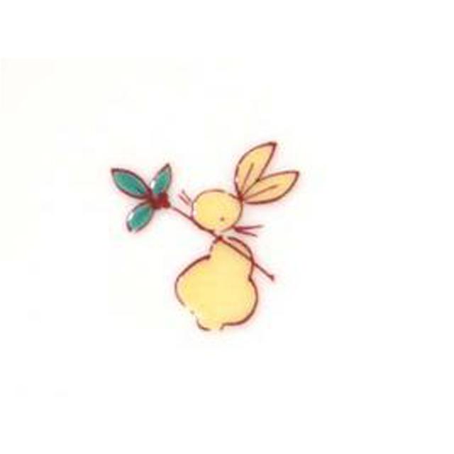 小紋うさぎ 4号小鉢(兎柄)